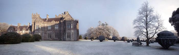 Gurteen Castle in the Winter 2 by Cyril-Helnwein