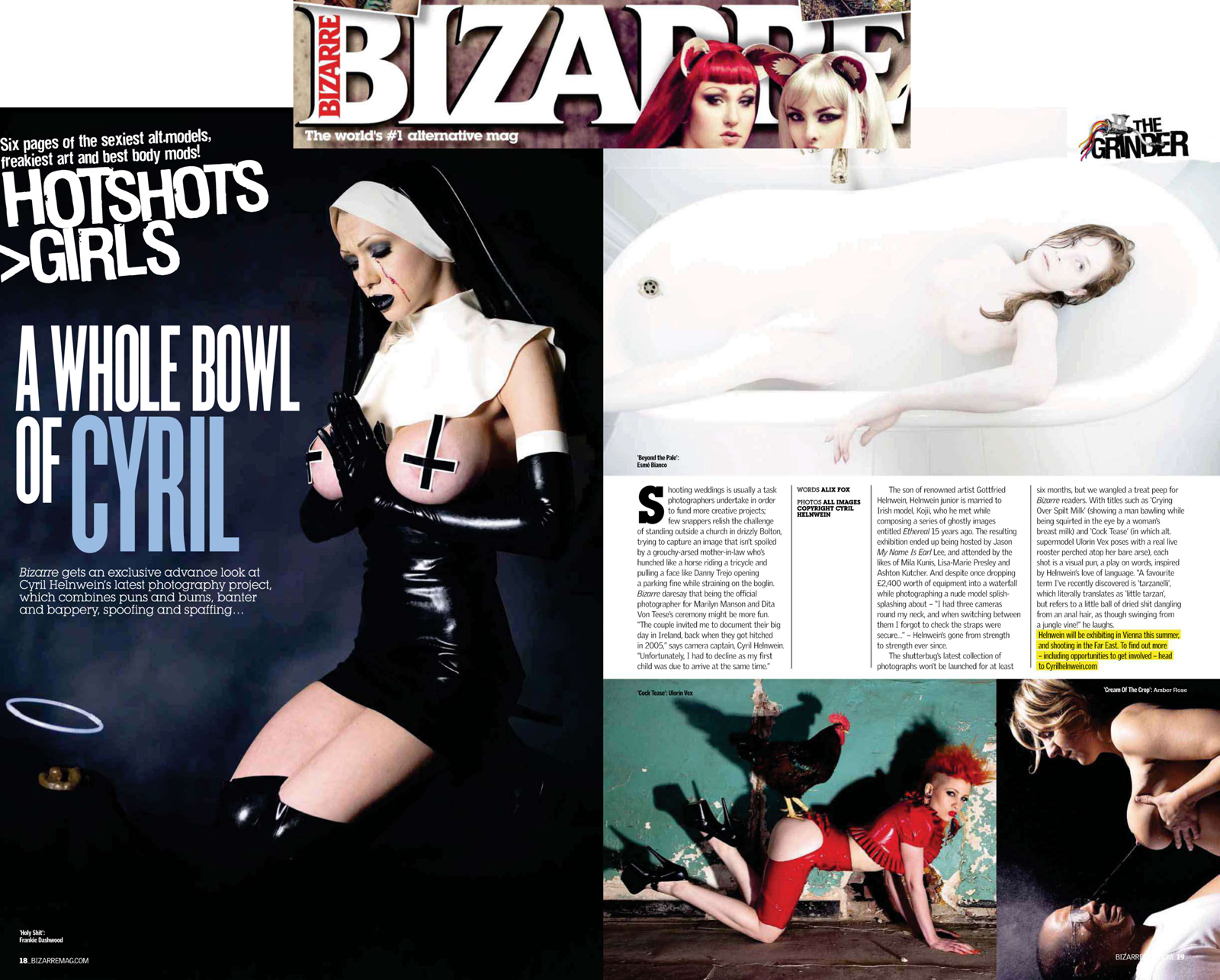 Bizarre Magazine article and interview Cyril Helnwein