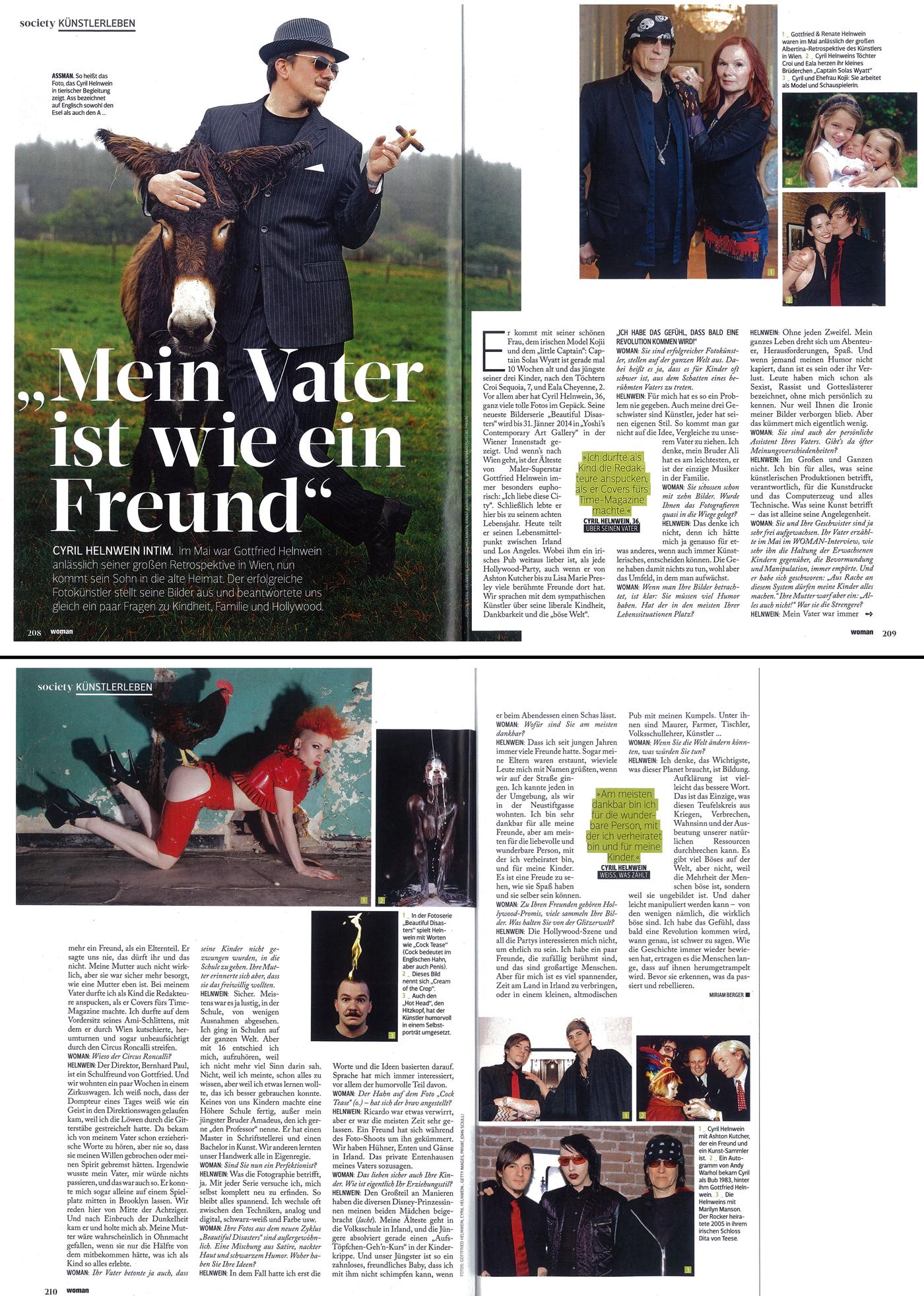 Cyril Helnwein WOMAN Magazin (Austria)