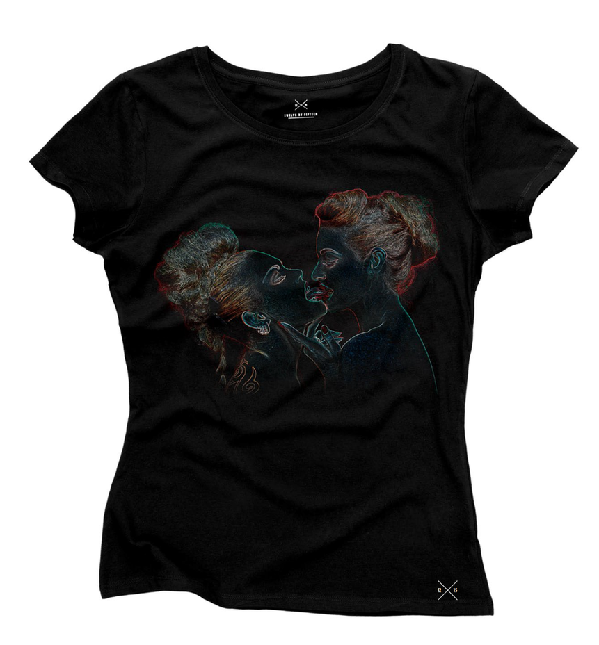 'Bite Your Tongue' t-shirt by Cyril-Helnwein