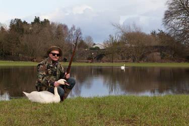 The Swan Hunter by Cyril-Helnwein