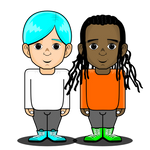 Gumball and Darwin as Humans