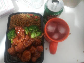 a delicious Friday night meal I had