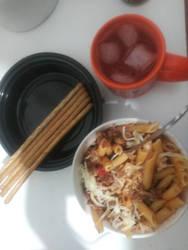 A  Pasta dinner I had Tonite