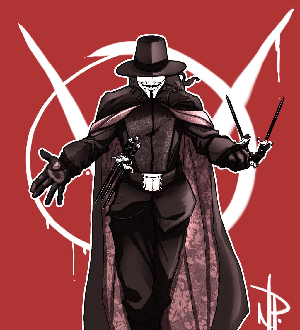 V for Vendetta by thenate06 on DeviantArt