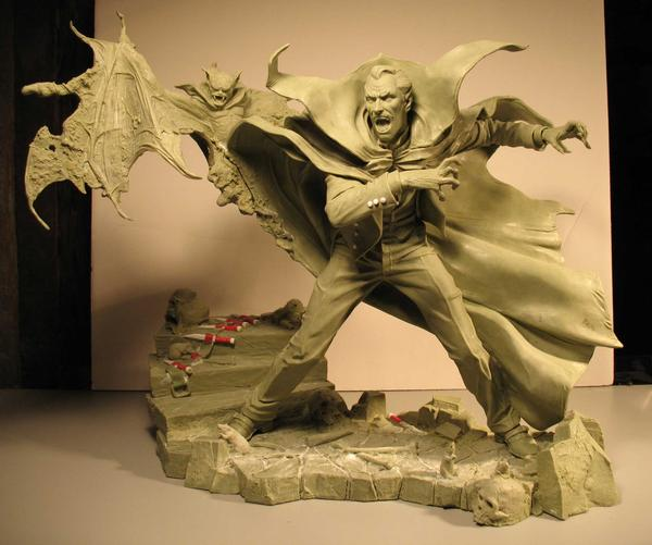 Tomb of Dracula clay by BLACKPLAGUE1348