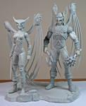 Black Lantern Hawkman  and Hawkgirl