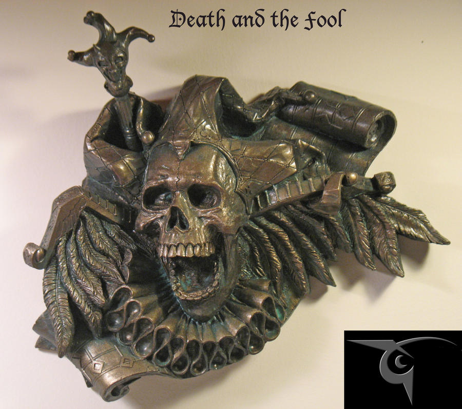 Death and the Fool faux bronze finish