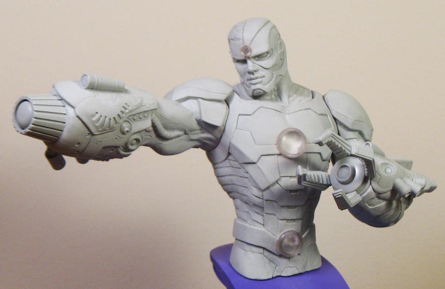 Cyborg sculpt1 by BLACKPLAGUE1348