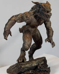 Monster Museum specimen #2: Bray Road Beast statue by BLACKPLAGUE1348