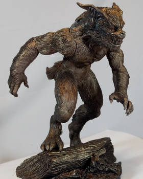 Monster Museum specimen #2: Bray Road Beast statue by BLACKPLAGUE1348