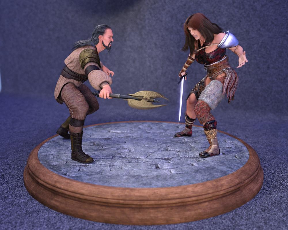 Shannon vs the Corsair by frillynikki