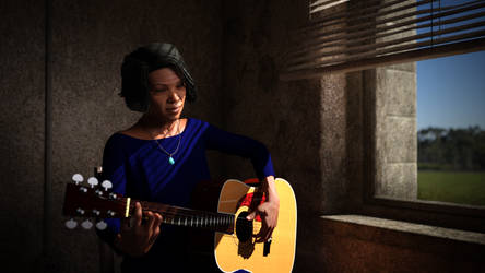 Elizabeth Cotton, Folk Musician by frillynikki
