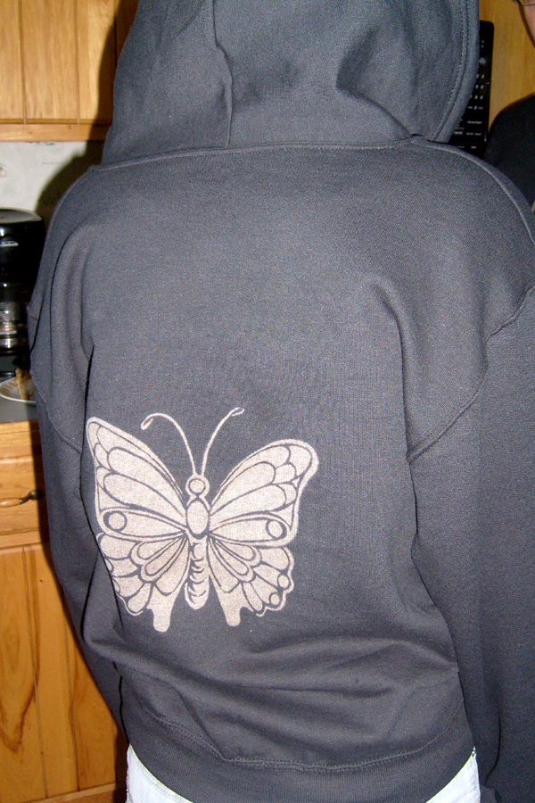 butterfly hoodie by 611productions