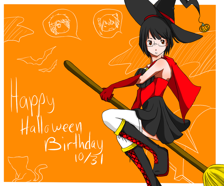 happy halloween birthday anri by yamimii kun on deviantart