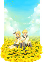 Kagamine Rin,Len by tiyoro14
