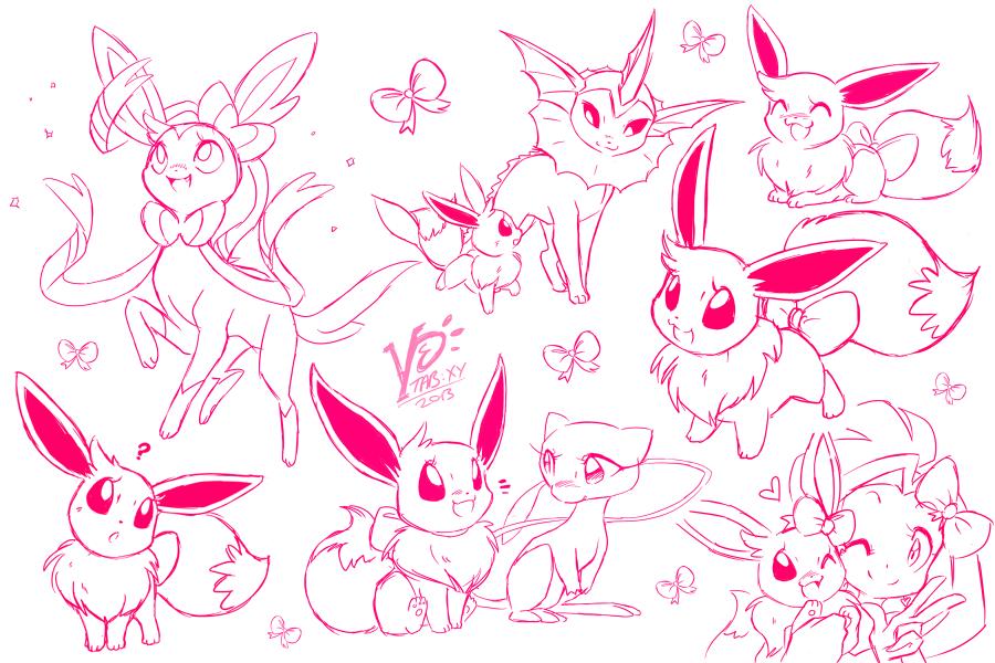 Eevee doodlings by espie