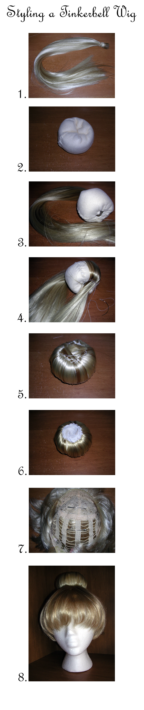 Tinkerbell Wig Tutorial by vampirate777