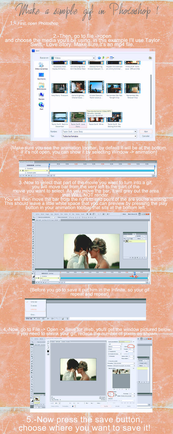 Make a simple gif in Photoshop