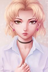 Akagi Ritsuko (young) by miura-n315
