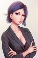 Kiyoko Aura by miura-n315