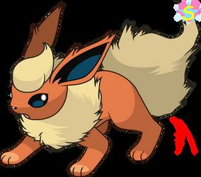 Pokemon Base 38: Flareon by StarlineSparkle896