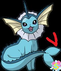 Pokemon Base 43: Vaporeon by StarlineSparkle896