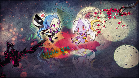 Wallpaper Jinx and Soraka by Maylise-art