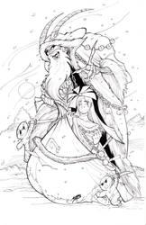 Bride of Krampus (Inked) by Psychoboy07