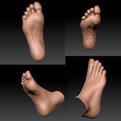 HD Original Foot morph 1 - WIP