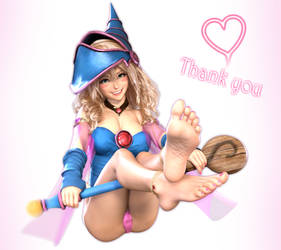 Patreon Thanks Render: Dark Magician Girl