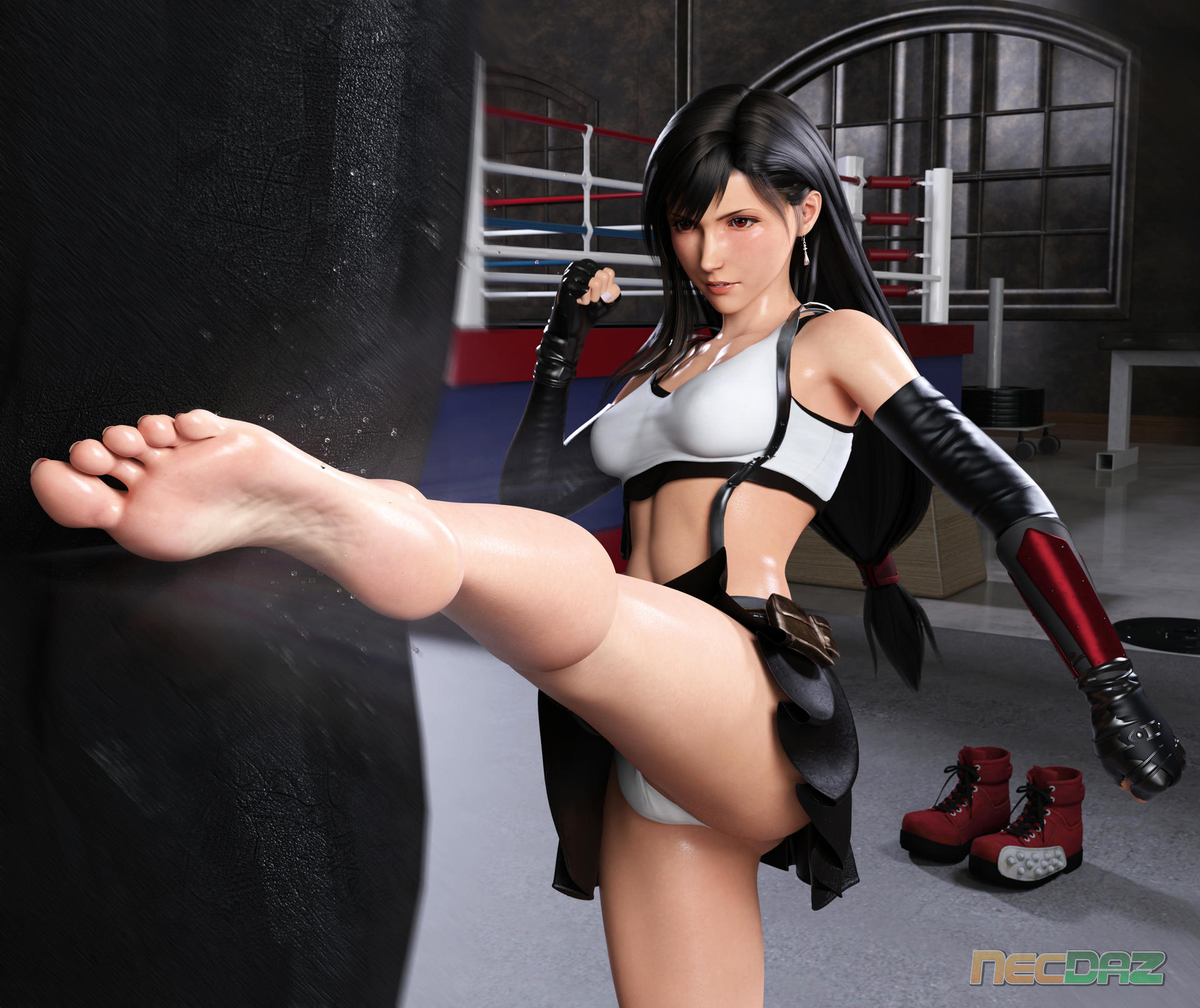 Monthly Render Tifa Lockhart At The Gym By Necdaz91 On