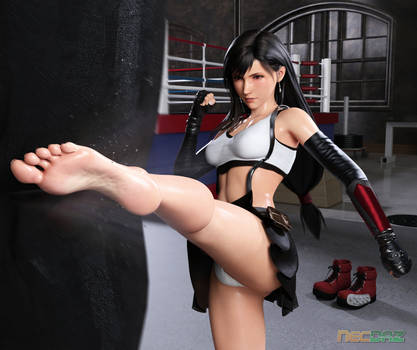 Monthly Render: Tifa Lockhart at the Gym