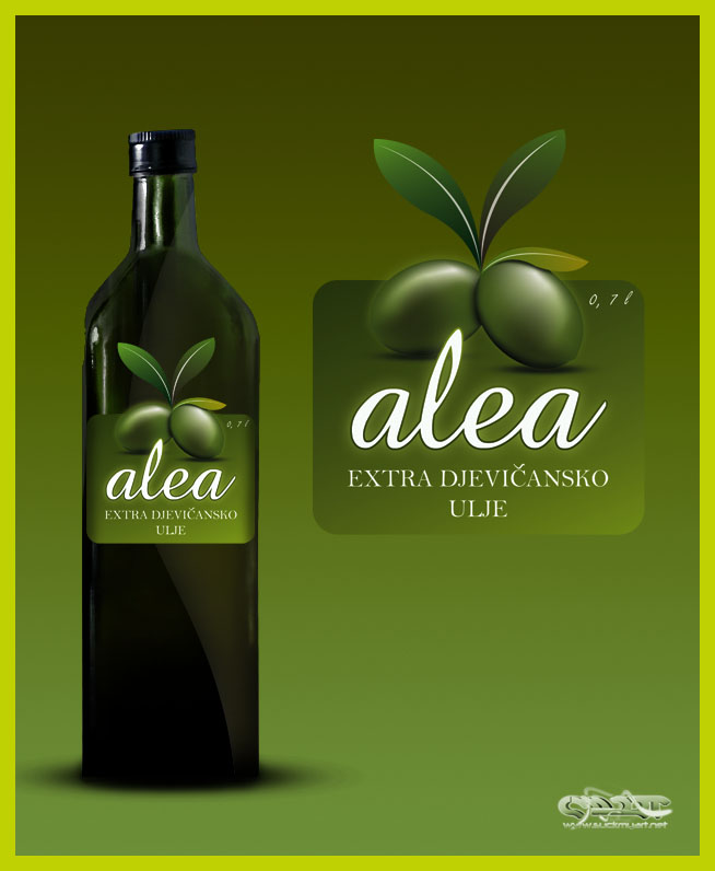 olive oil label by Q-harrr