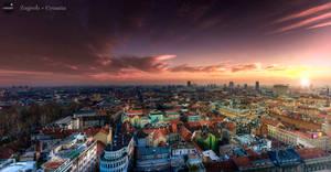 Zagreb sunset