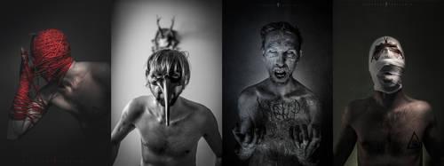Four Horseman of the Apocalypse by Q-harrr