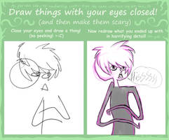 Draw with your eyes closed by KazGV