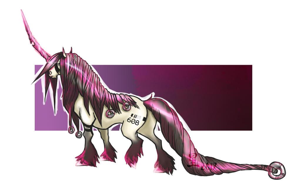 Sexy Bubblegum Unicorn by AlphaWoof