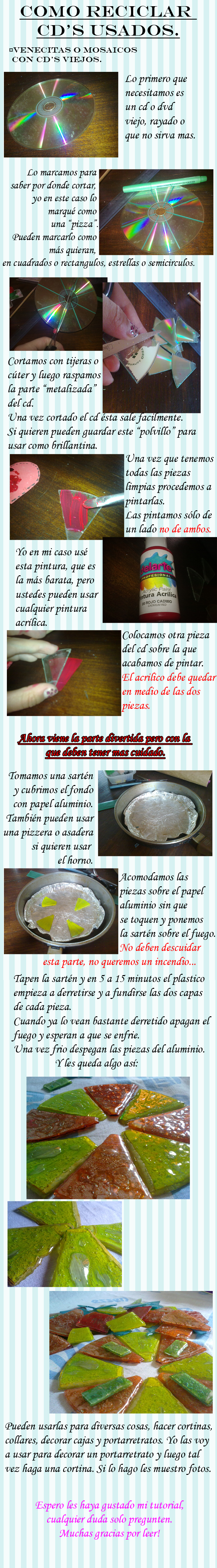 Tutorial: CD's reciclados by MizaoRocks