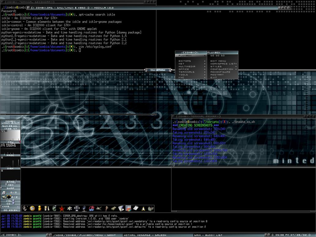 Fluxbox on Debian Unstable by cheekyzombie