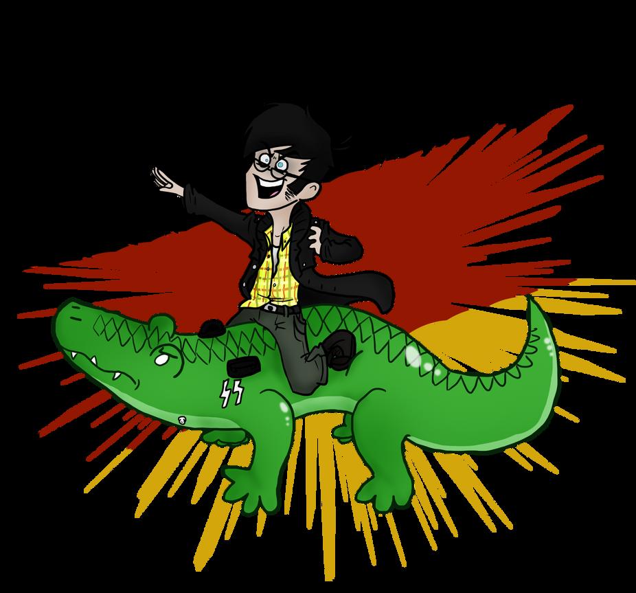 Aufblasbares Krokodil by HugaDuck