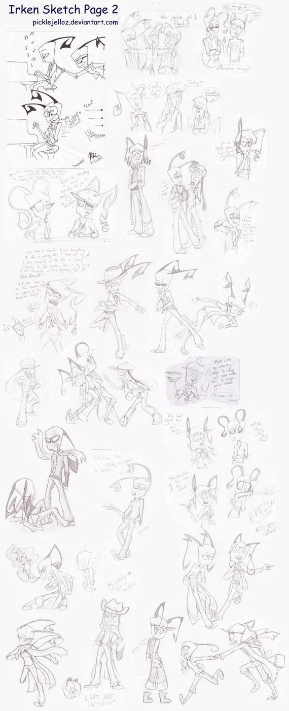 IZOC Sketch Page 2 by HugaDuck