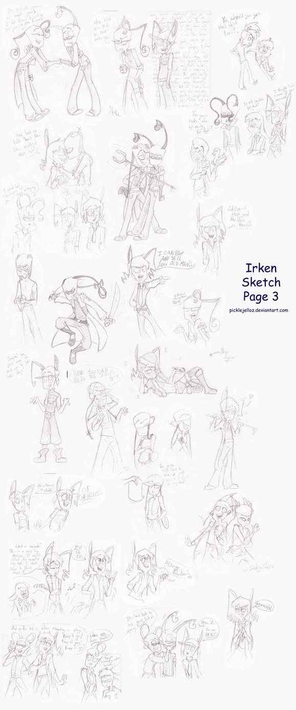 IZOC Sketch Page 3 by HugaDuck