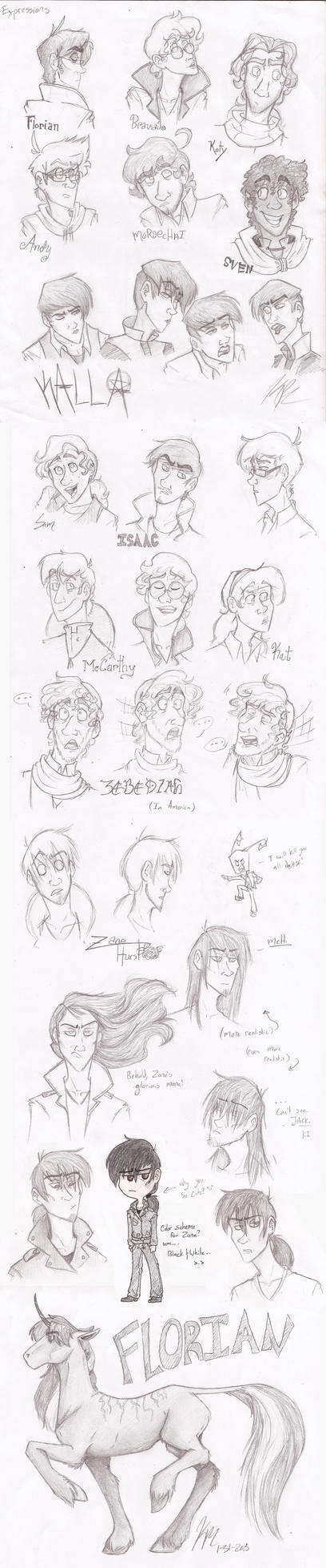 Expressions SketchDump (Mostly) by HugaDuck
