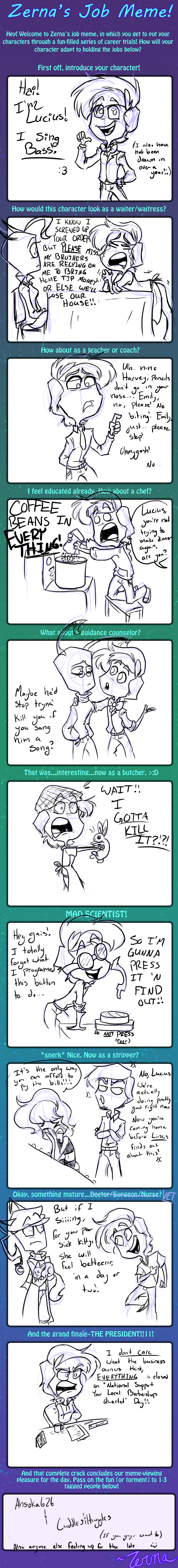 Job Meme with Lucius by HugaDuck