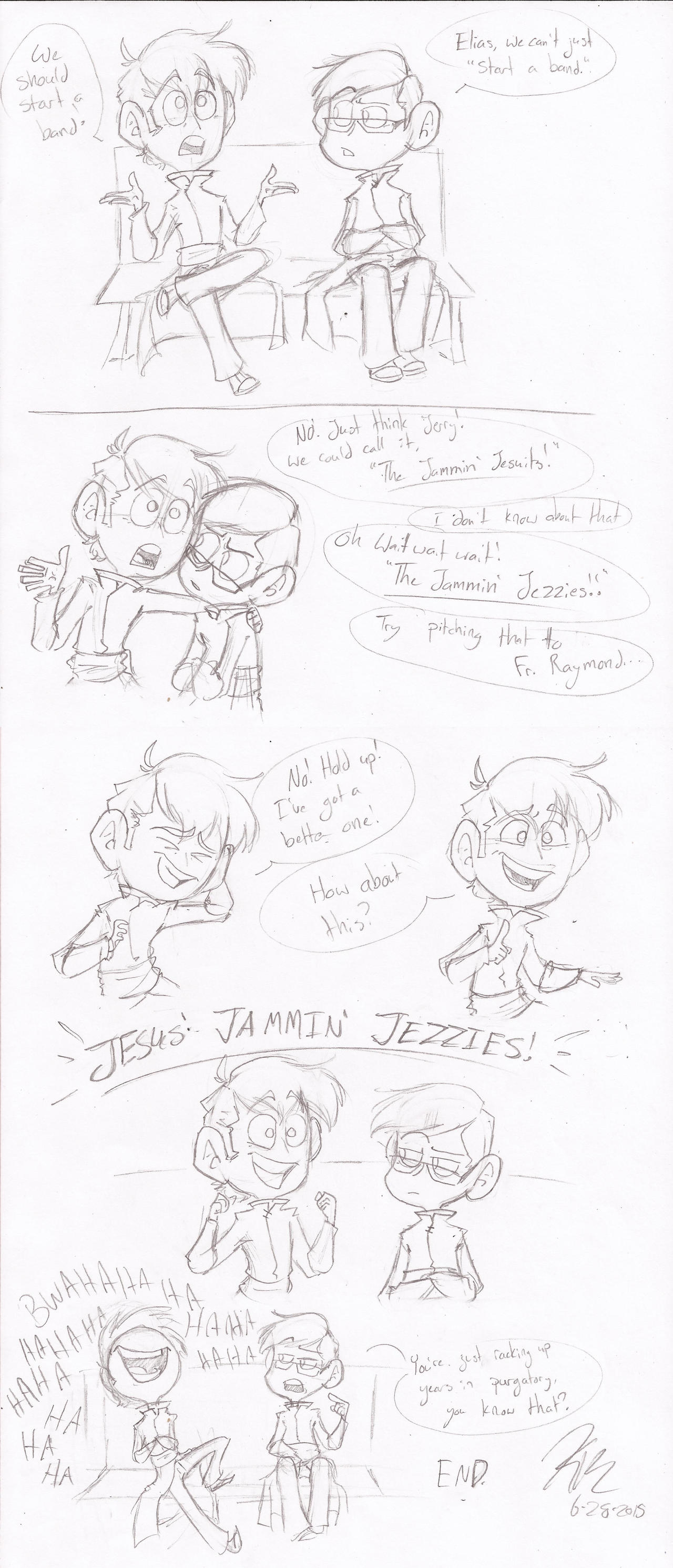 Jesus' Jammin' Jezzies by HugaDuck