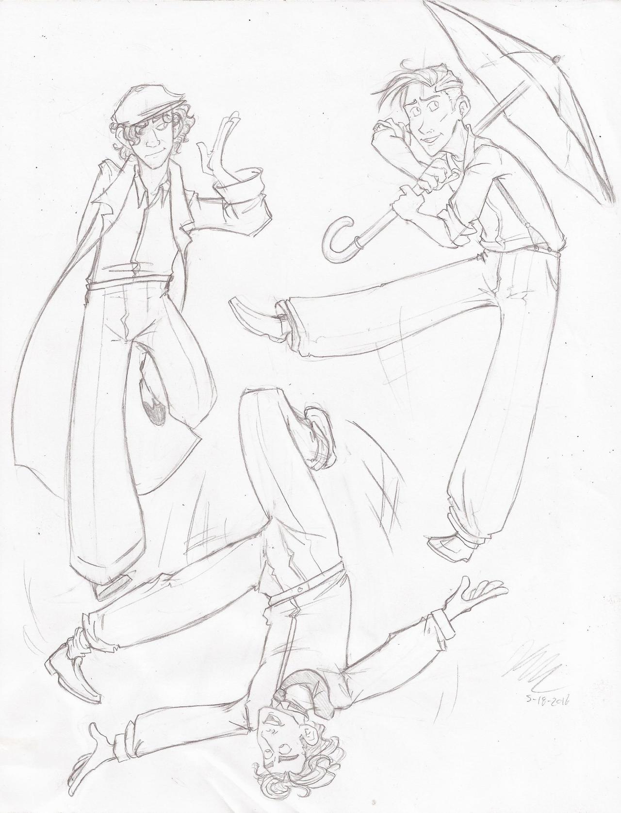Dance Doodles by HugaDuck