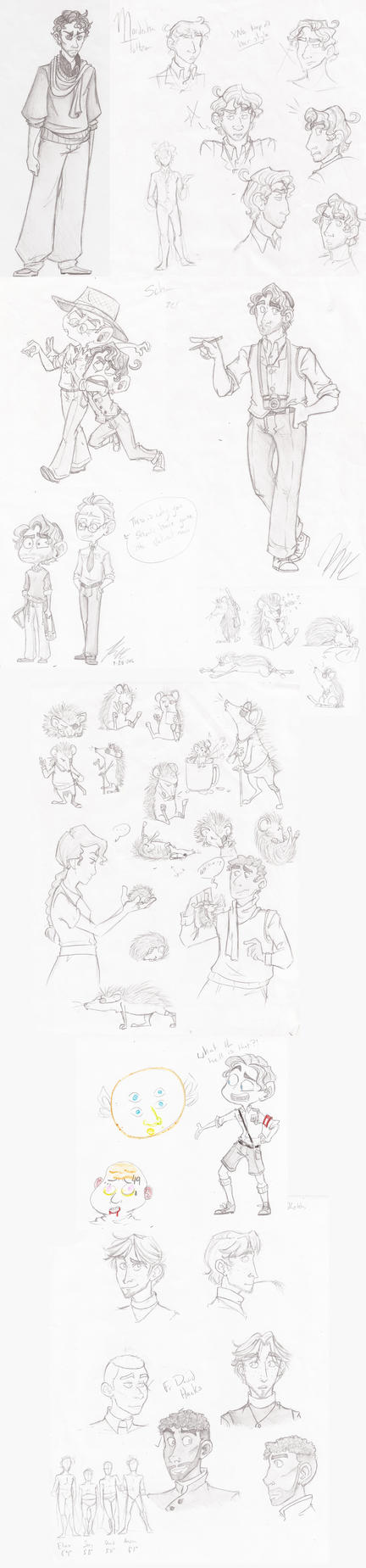 A Pile of Sketches by HugaDuck