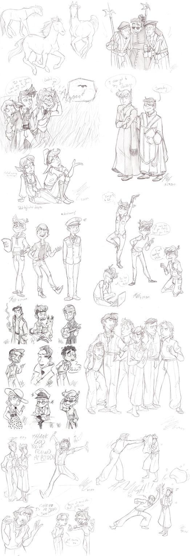 May-June Sketch Dump by HugaDuck