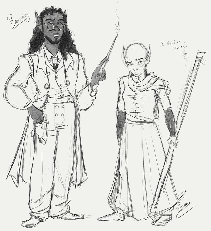 Barnbs and Dragonlady by HugaDuck